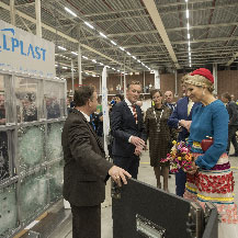 Visit of our Dutch King Willem Alexander and Queen Maxima to Tholen (NL)